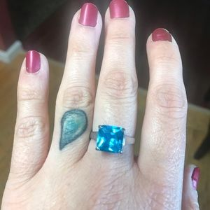 Jewelry - Silver and Blue Ring